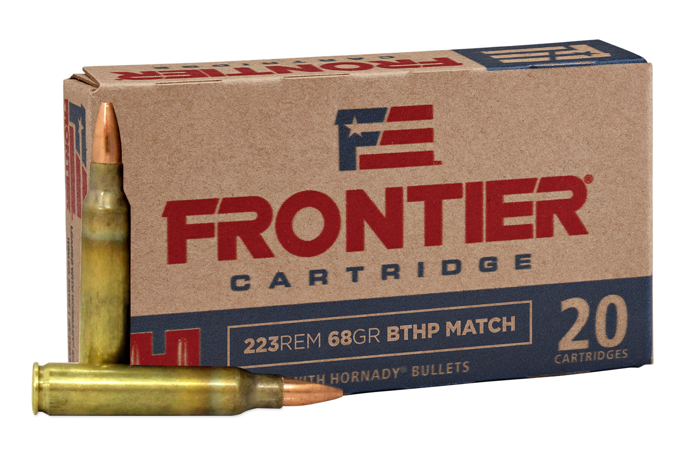 HORNADY FR120 FRONTIER AMMO .223 REM 55GR SPIRE POINT