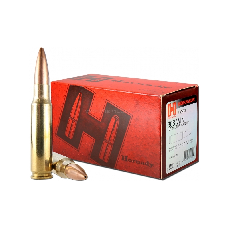 80972 AMMO 308 WIN 168 GR BTHP MATCH™ (50)